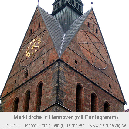 Religion im Allgemeinen und im weiteren Sinne Pentagramm_Marktkirche